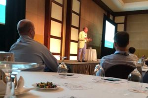 Joey speaks to Boston Consulting Group in Miami, Florida