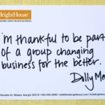 I'm thankful to be part of a group changing business for the better.